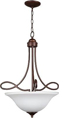 Craftmade 25023-OLB-WG Cordova Pendant, 3 Light 300 Total Watts, Old Bronze