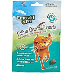 Emerald Pet - Cat Dental Treat, Ocean Fish, All Natural, Grain Free, Gluten Free, Soy Free, Dairy Free, Allergy Friendly, For Healthy Feline Teeth (3 Ounce)