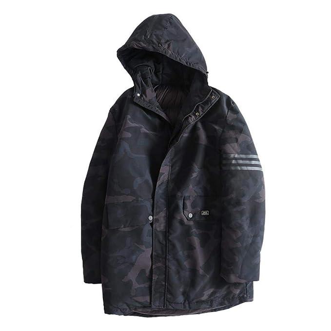 NLJ-YR Chaqueta de los Hombres Chaqueta de Camuflaje Moda Casual Invierno Gordo Tamaño Grande Grueso Abrigo de túnica de algodón: Amazon.es: Ropa y ...
