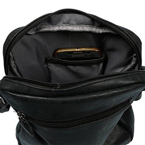 femme 28 cm à 22 5 LLUPP x gris porter Sac noir gris à l'épaule pour x P1nEfawqxB