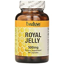 Beelieve Bee Products Royal Jelly Capsules 500mg, 90-Count