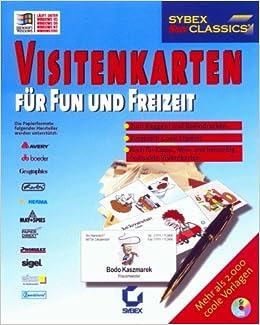 Visitenkarten Für Fun Und Freizeit Jc Cd Rom Für Windows