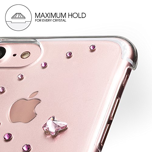Bling My Thing ip7 de l-CL en polypropylène de AGM papillon série luxe et design unique brillant avec cristaux Swarovski, d'origine Case pour Apple iPhone 7 Plus Angel Tears tendance