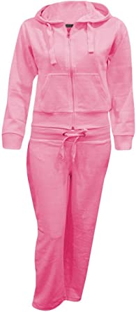 Amazon Com Shelikes Kids Girls Velour Active Tracksuit Ages 7 14 Clothing