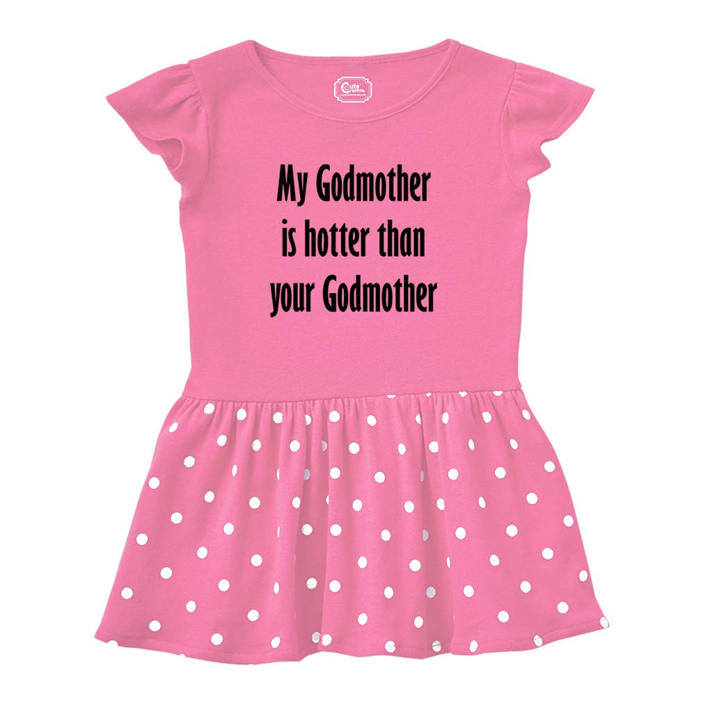 Cute Rascals Godmother is Hotter Than Your Godmother Taped Neck Girl Cotton Rib Dress RDLAU0901