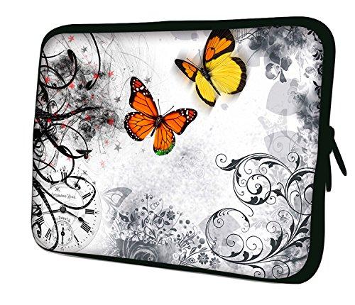 "7.9""Design ipad mini/iPad Mini 2/iPad Mini 3funda suave carcasa Bolsa Pouch Skin. Ajuste perfecto. Diferentes patrones Disponible. (parte 1de 3) - Butterflies in the White"