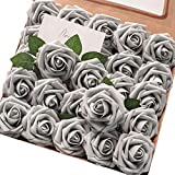 Floroom Artificial Flowers 50pcs Real Looking