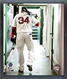 "David Ortiz Boston Red Sox 2016 MLB Action Photo (Size: 12"" x 15"") Framed"