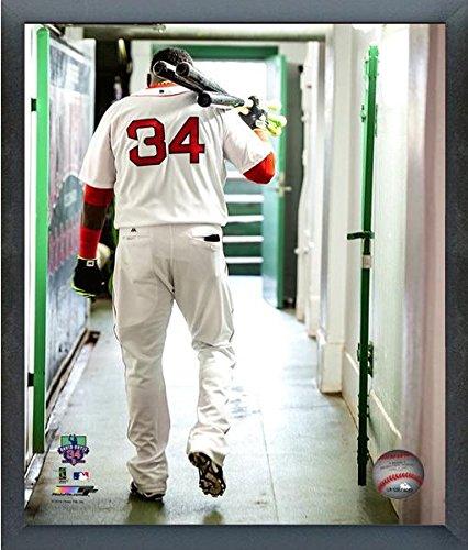 "David Ortiz Boston Red Sox 2016 MLB Action Photo (Size: 12"" x 15"") Framed"
