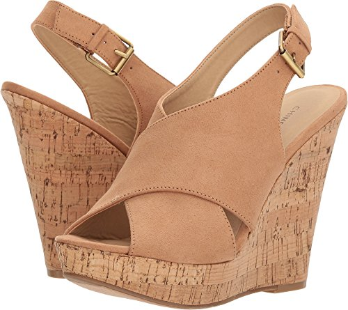 Chinese Laundry Women's Myya Micro Suede Wedge Sandal, Camel Suede, 10 M US ()