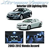 led package - XtremeVision Honda Accord 2003-2012 (12 Pieces) Cool White Premium Interior LED Kit Package + Installation Tool