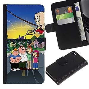 Familia Carácter Flecha Lucha- la tarjeta de Crédito Slots PU Funda de cuero Monedero caso cubierta de piel Para Apple Apple iPhone 4 / iPhone 4S