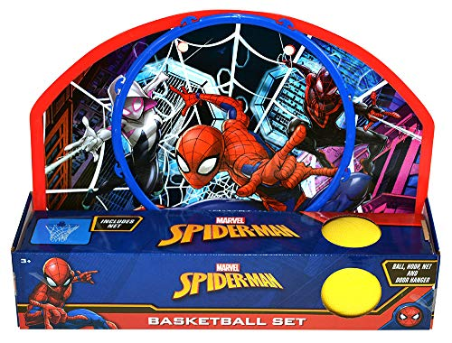 Spider-Man Basketball Set, Turbo Copter, Disc Launcher, and Stickerpad Bundle by Clever Home (Image #2)