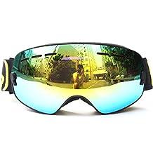 Docooler Children Ski Snowboard Skate Goggles with Wide Spherical Lens Anti-fog UV400 Protection for Girls Boys