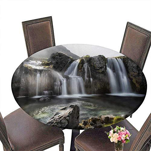 PINAFORE Premium Tablecloth Dynjandi Waterfall Westfjords Everyday Use 63