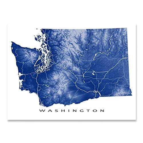 MAP WASHINGTON CITY VINTAGE LARGE WALL ART PRINT POSTER PICTURE LF2631