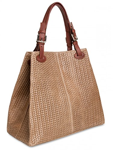 A Borsa Caspar Fashion 33x30x17 Donna Cm Talpa Mano zqvvSEC