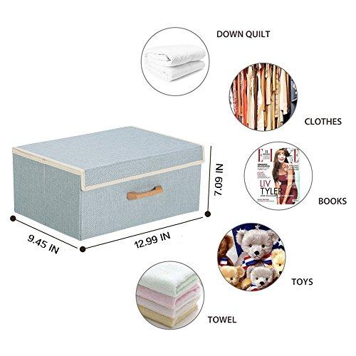 Galvanized Storage Cube - Large Foldable Storage Cube Basket Bin 12.99