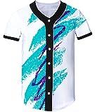 #4: Uideazone Men Women 3D Printed Short Sleeve Baseball Shirt Arc Bottom Jersey Shirts