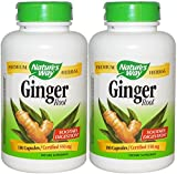 Nature's Way Ginger Root 550mg, 180 Capsules (Pack of 2)