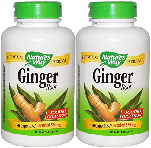 Nature's Way Ginger Root 550mg, 180 Capsules (Pack of 2) Review