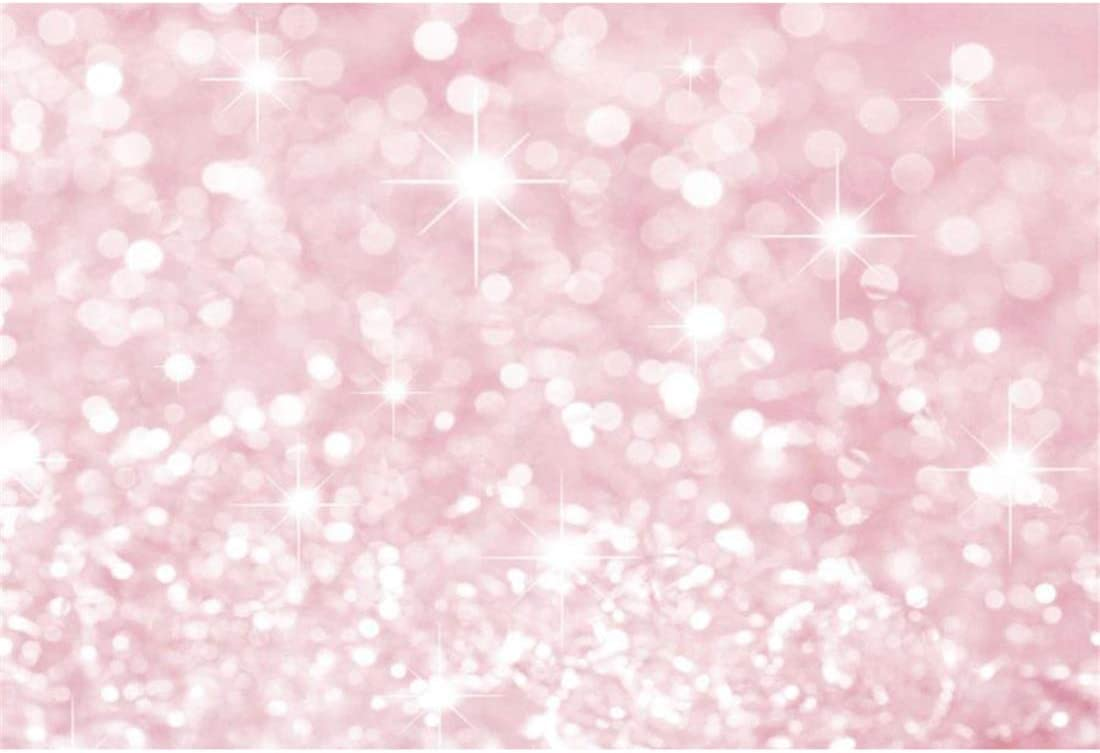 YEELE 5x3ft Pink Sequins Backdrop Pink Sparkling Glittering Bokeh Spots Photography Background Girls Kids Lady Artistic Portrait Baby Room Girl Birthday Photobooth Props Digital Wallpaper
