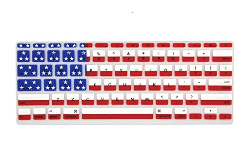 Allytech American flag Pattern Ultra Thin Durable Keyboard Cover Silicone Skin for MacBook Pro 13
