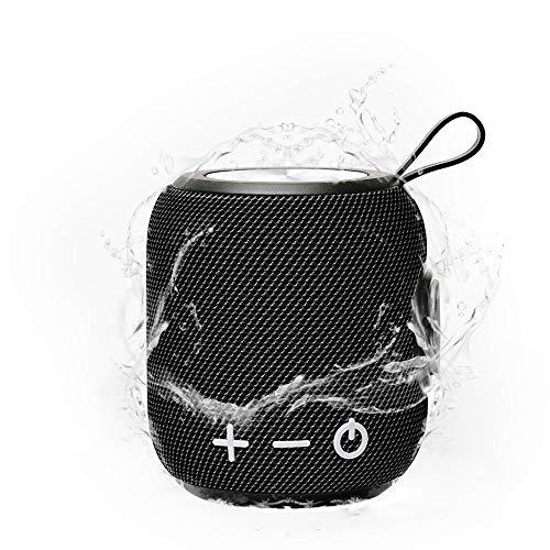 SPGOOD Bluetooth Speaker M7, TIEFBASS, 360° Sound Bluetooth Speaker V5.0 met draadloze koppeling, 10 meter Bluetooth…