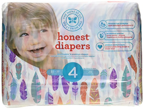 New The Honest Company Feathers Size 4 Disposable Diapers -