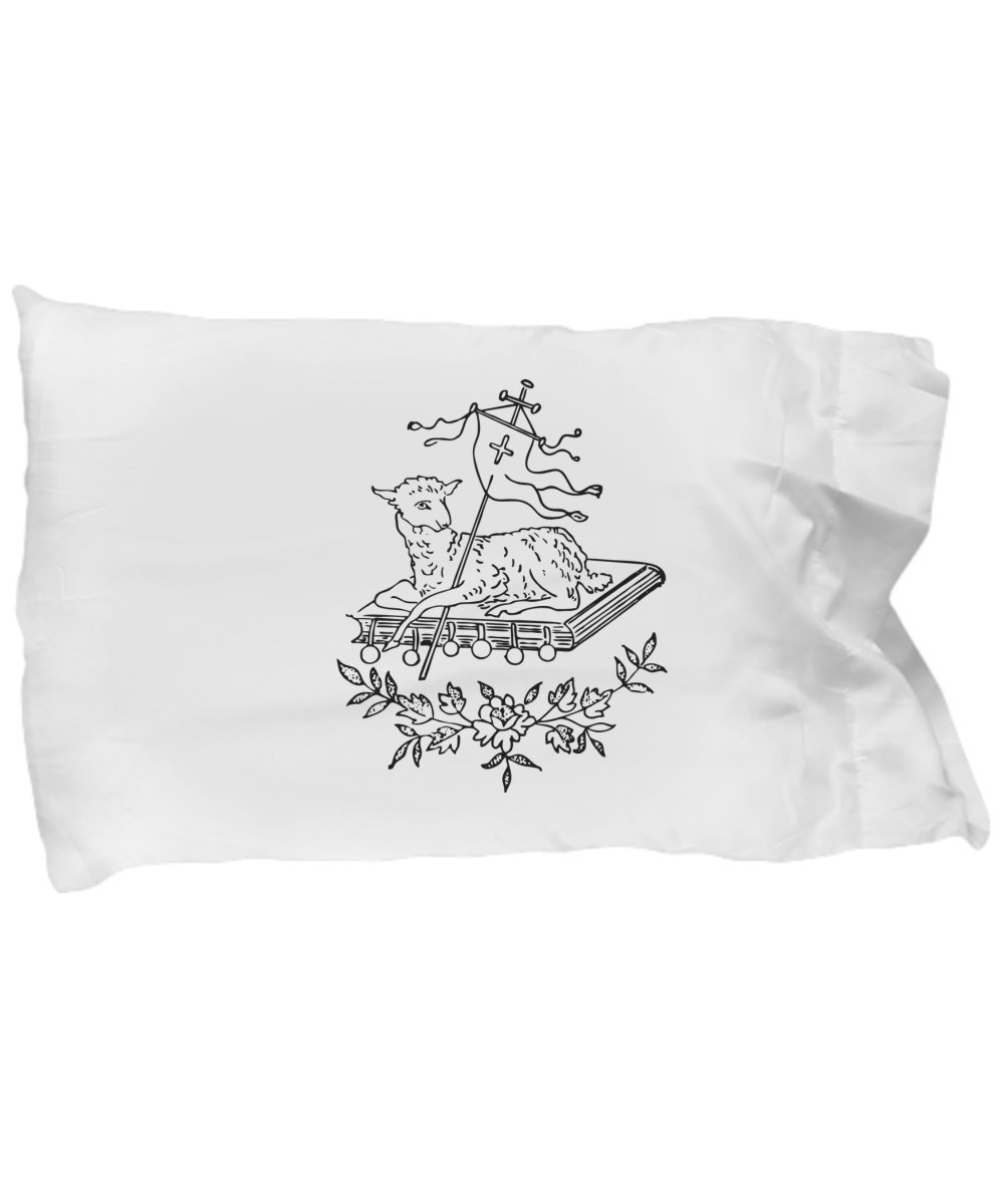 Color your pillowcase with Christian Lamb, kids and adults. Color me pillowcase cover