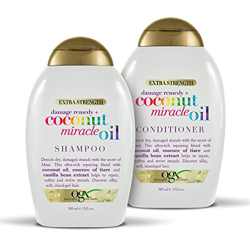 OGX Extra Strength Damage Remedy + Coconut Miracle Oil Shampoo & Conditioner Set, 13 ()