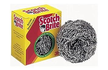 Scotch Brite Schwamm rn000975144 – Blister 2 Inox. Scotch: Amazon ...