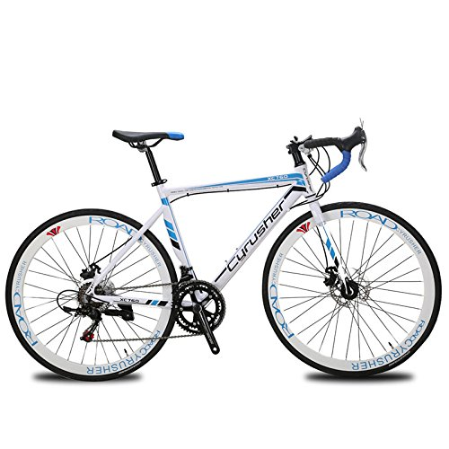 XC760 Cyrusher Mans Races Road Bike 52cm Aluminium Frame Tourney ST-A070 Shifting System 14 Speeds Disc Brakes (Blue) Jinshenyuan