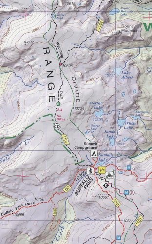 Steamboat Springs Mount Zirkel Trail Map 3rd Edition - Buy ...