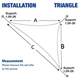 Cool Area Triangle 16 Feet 5 Inches Durable Sun