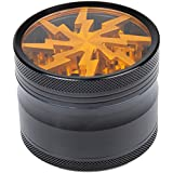 Siasky Tobacco Spice Grinder Herb Weed Grinder with Mill 4 Layers 2.5 Inches Aluminum Alloy (Golden)