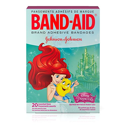 Band-Aid Brand Adhesive Bandages for Minor Cuts & Scrapes, Disney Princesses™, Assorted Sizes, 20 ct