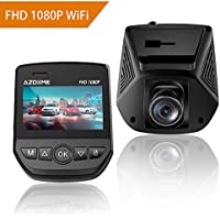 Full HD 1080P Car Dash Cam Built-in WiFi, 170°Wide Angle...
