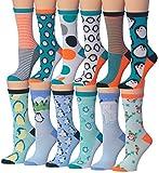 penguin pack - Tipi Toe Women's 12-Pairs Value Pack Penguin Novelty Animal Design Socks, (sock size 9-11) Fits shoe size 5-9, WC52-AB