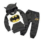 BabyMe Children Outfits Tracksuit Batman Pants 2-pieces