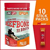 LonoLife Grass-Fed Beef Bone Broth Powder with 10g Protein, Stick Packs, 10 Count Larger Image