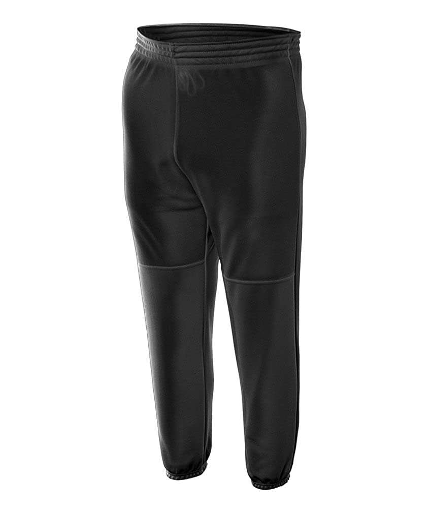 Youth Elastic Bottom Pull-On Baseball Pant Black X-Small Moshay Inc. NB6120