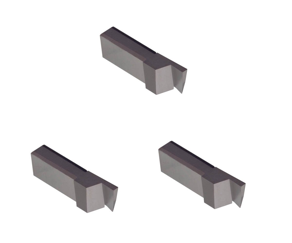 Grooving Insert for Non-Ferrous Alloys Uncoated Carbide THINBIT 3 Pack LGT040D5R 0.040 Width 0.100 Depth Aluminium and Plastic Without Interrupted Cuts Sharp Corner