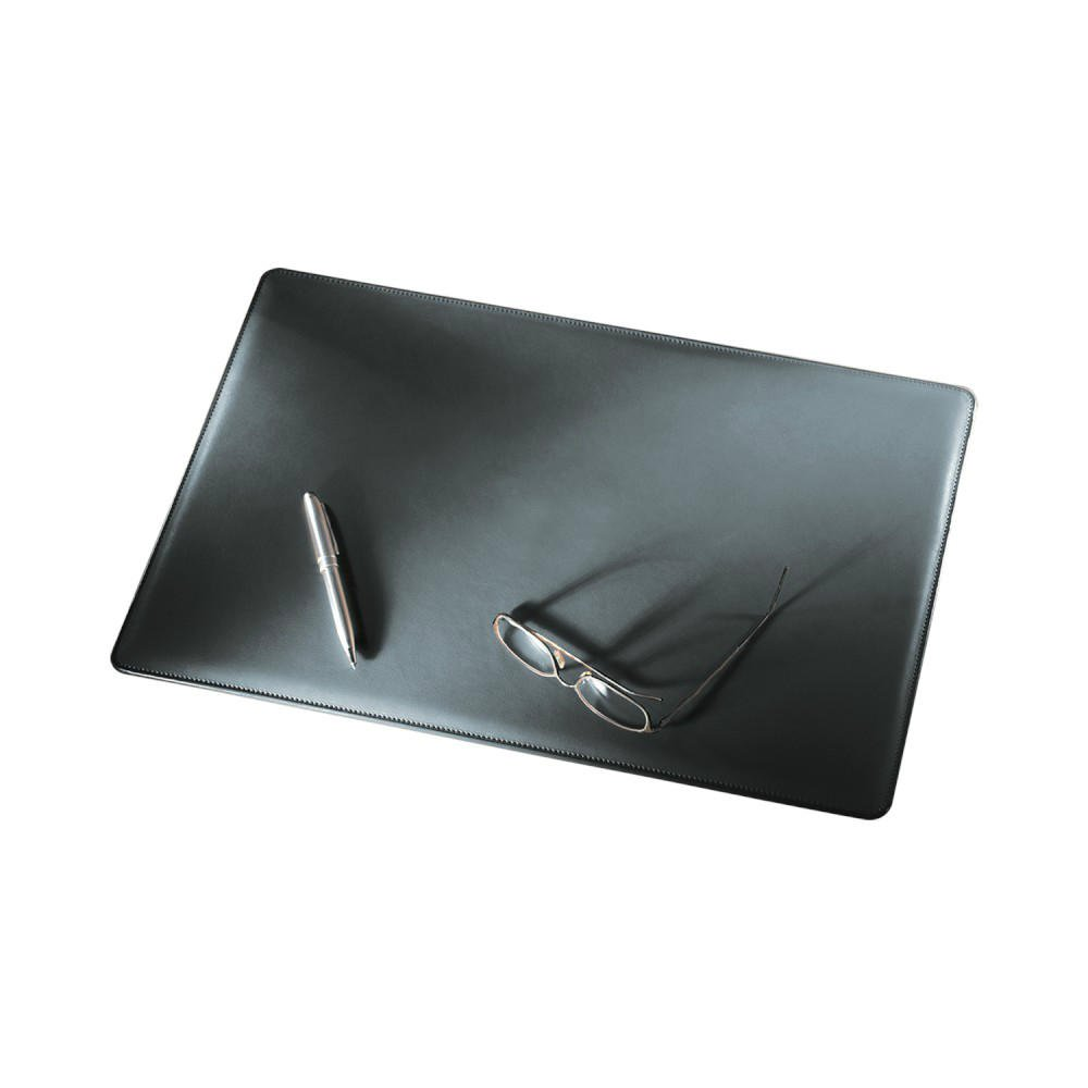 Executive Desk Pad in Black Leather: Florentine Napa