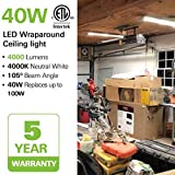 Hykolity 4FT LED Wraparound Light 40W 4 Foot LED