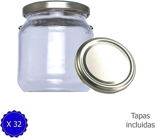 Tarros de Cristal con Tapa para chuches conservas pastas legumbres ...