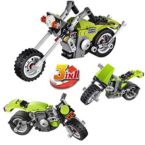 3 in 1 Harley Cruiser Building Block Brick Educational DIY Toys for Kids