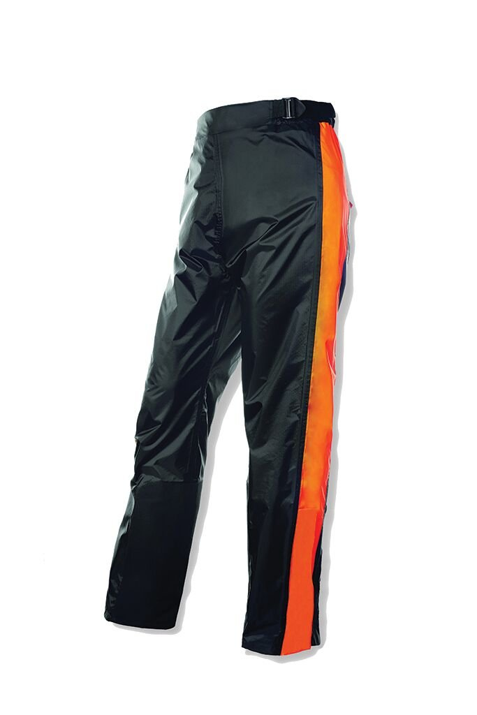 Olympia Moto Sports MP215 Horizon Rain Pants (Black/Neon Orange, X-Large/XX-Large)
