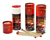 Shabbos Kodesh Long Matches Round Decorated Container of Approx 40 Matches - Pack of 6