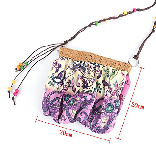 Weave Straw Messenger Bag Amuele Crossbody Strap Cloth Bohemia Black Handbag Boho Beach 5Colors wqCCESxt